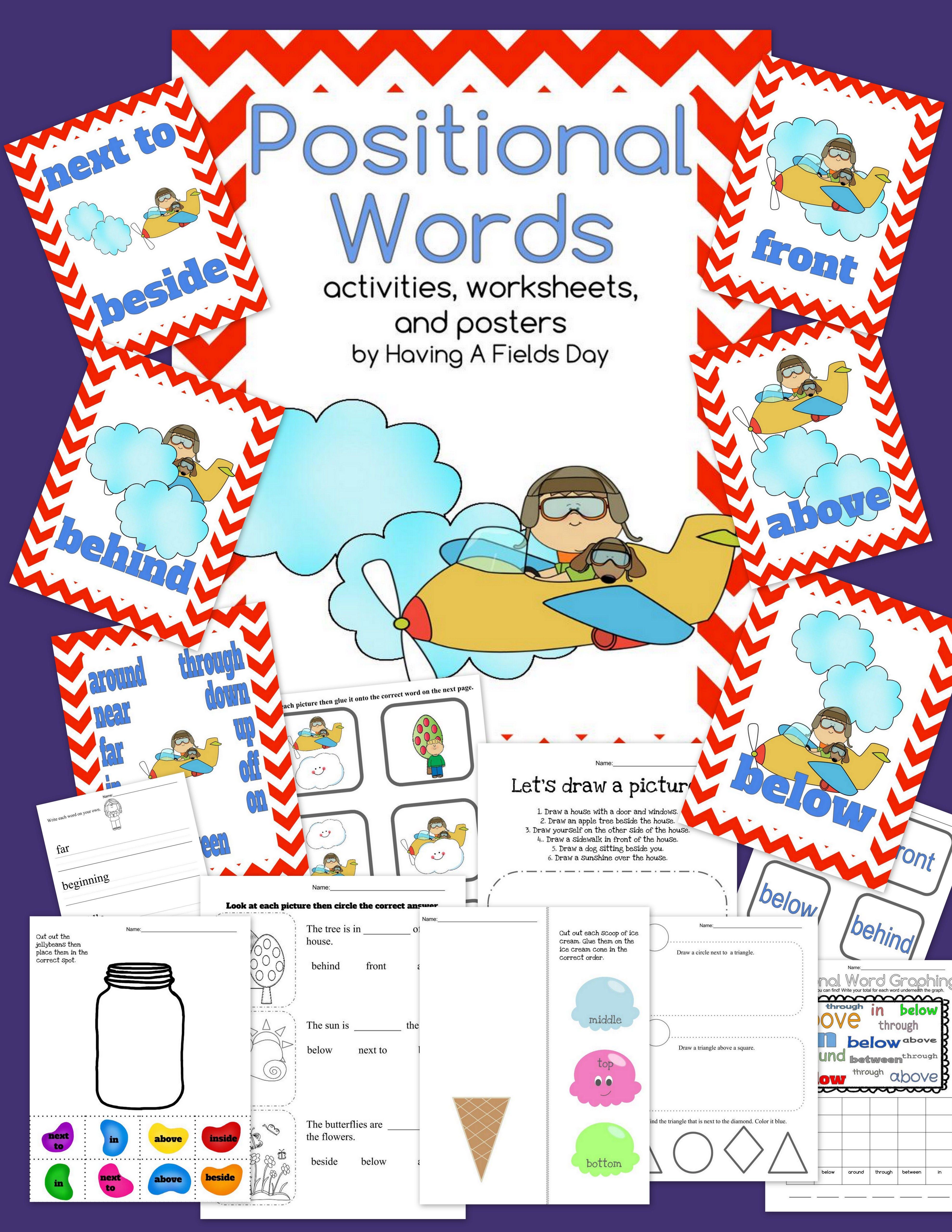 Positional Words Placement Words Boom Cards And Printable Activities Kindergarten Worksheets Position Words Kindergarten Worksheets Printable [ 5120 x 3957 Pixel ]