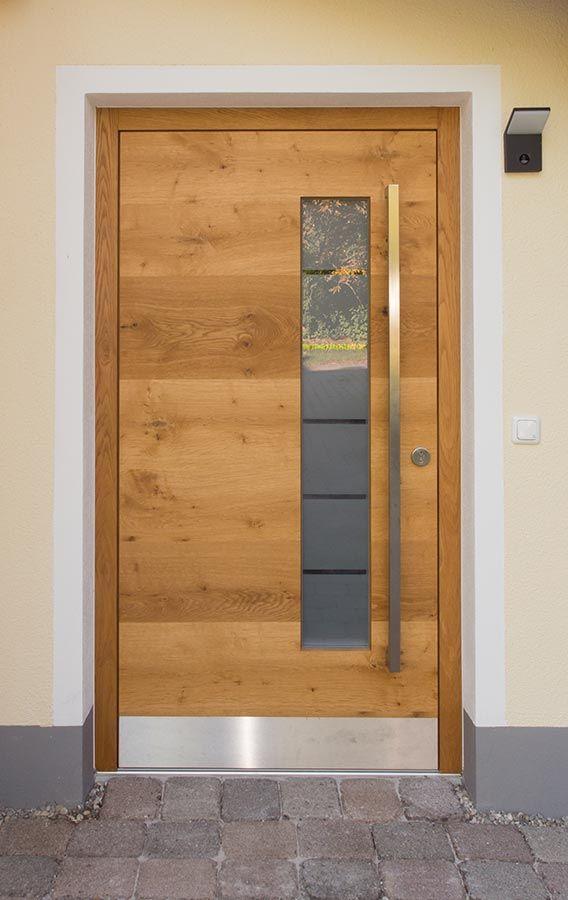 Front door in oak