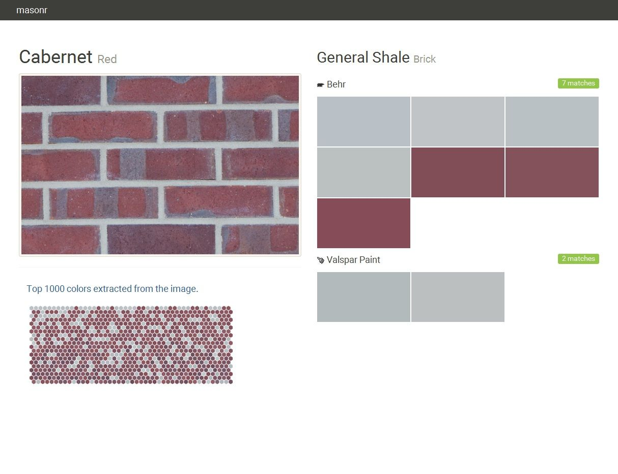 Red Brick General Shale Behr Valspar Paint Click The Gray Visit On To See Matching Names