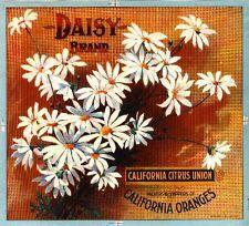 Los Angeles Daisy Flowers Orange Citrus Fruit Crate Label Art Print