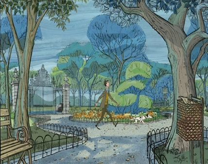 101 Dalmatians Just Watched This Again This Week I Was Enthralled By The Artwork In It Dalmatian Art Disney Concept Art Disney Art