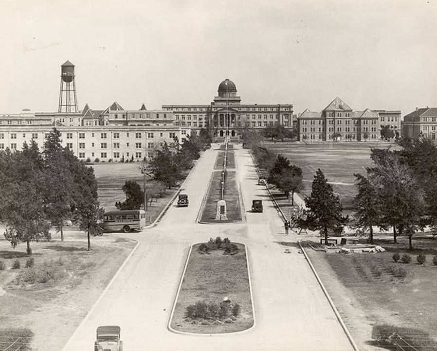 Texas A & M campus, circa 1920's Texas a&m university