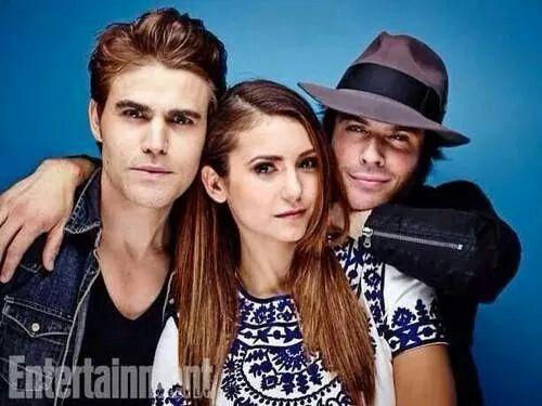 Paul, Nina, & Ian ♥♡♥ #TVD #Comic-Con2014