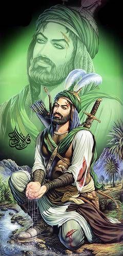 ابا الفضل العباس Ibn Ali Islamic Paintings Imam Hussain Wallpapers