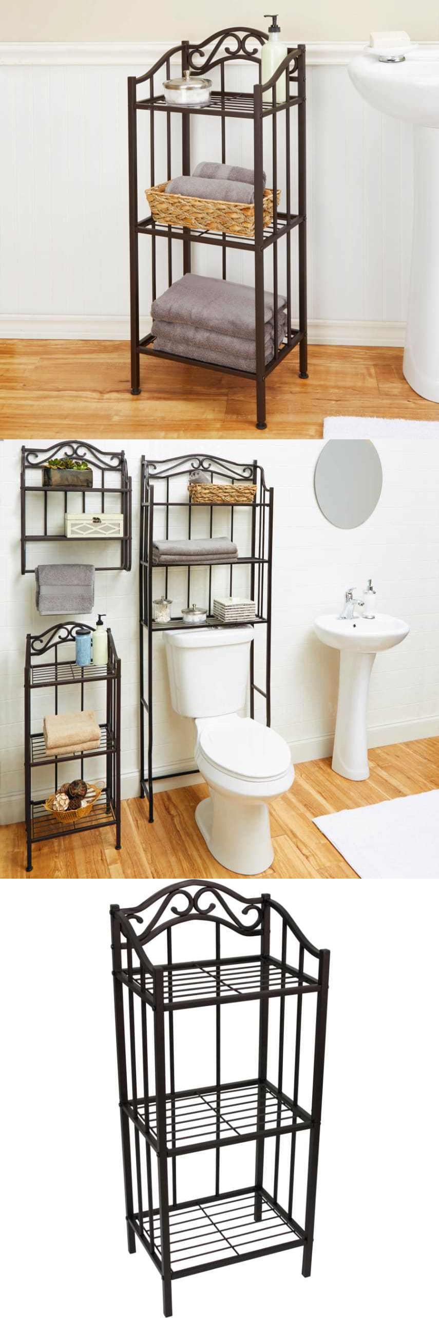 Bathroom floor caddy - Bath Caddies And Storage 54075 Bathroom Floor Cabinet Storage Shelf Shelves Furniture Organizer Chapter Bronze