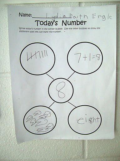 Representing numbers :}