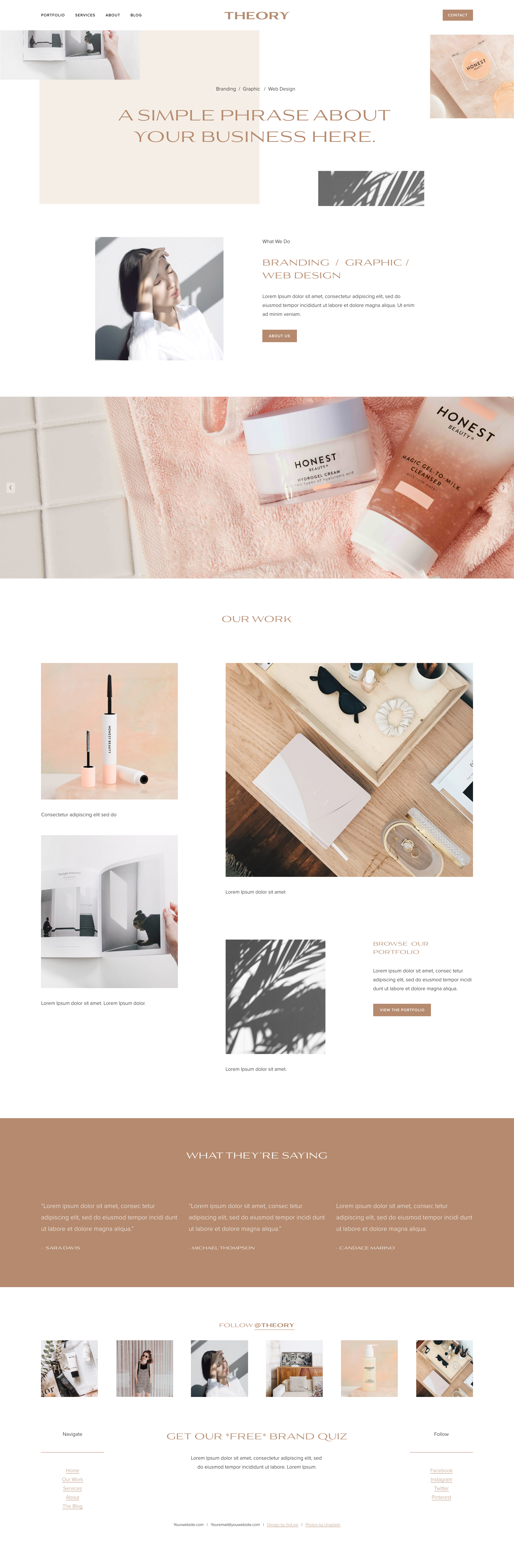 Theory Template Go Live Hq In 2020 Squarespace Theories Web Design