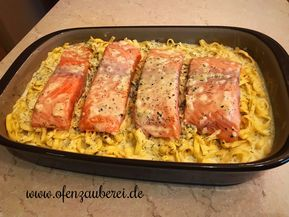 Photo of Salmon tagliatelle with cream sauce in the oven witch from Pampere …