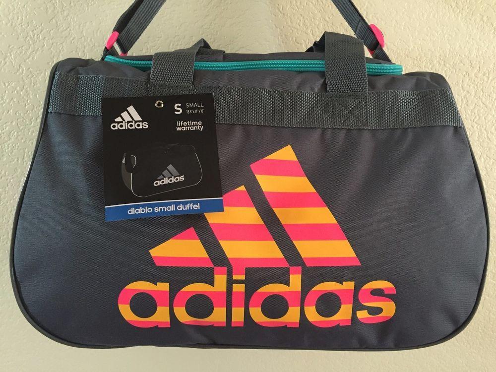 ADIDAS Diablo Small Duffel Women Solar pink Gym bag luggage 18.5