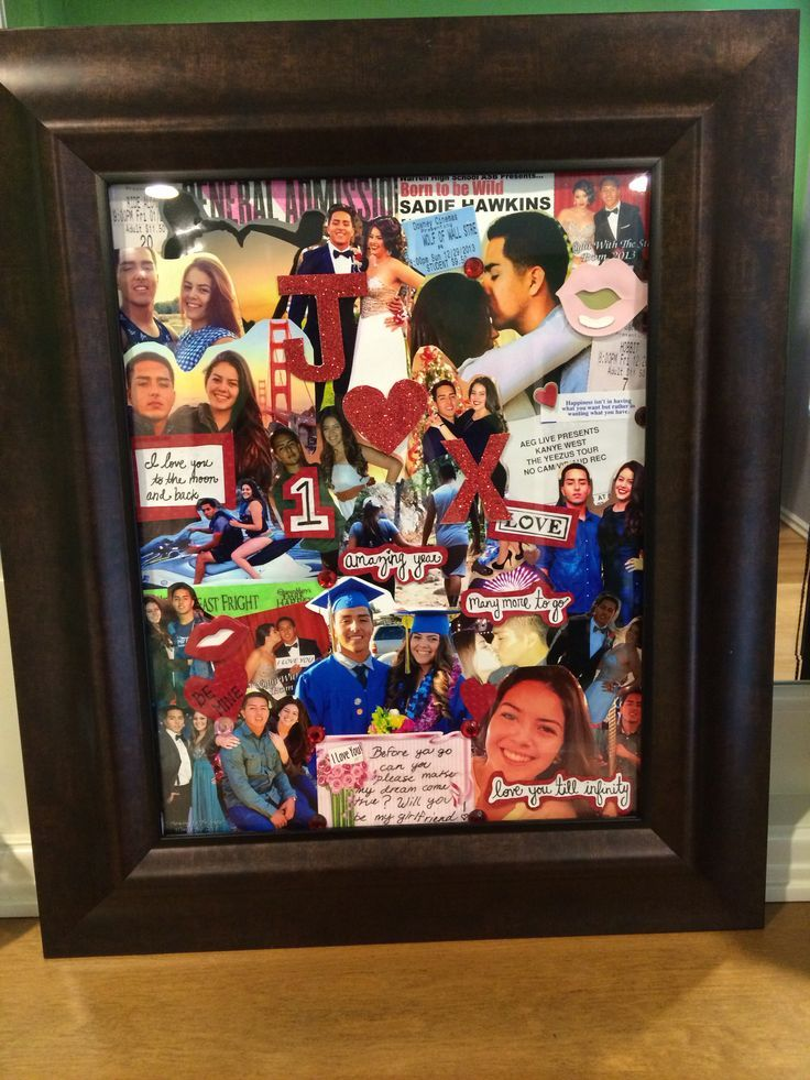 Memories collage easy diy anniversary gift ideas for him - Sorprender a mi marido ...