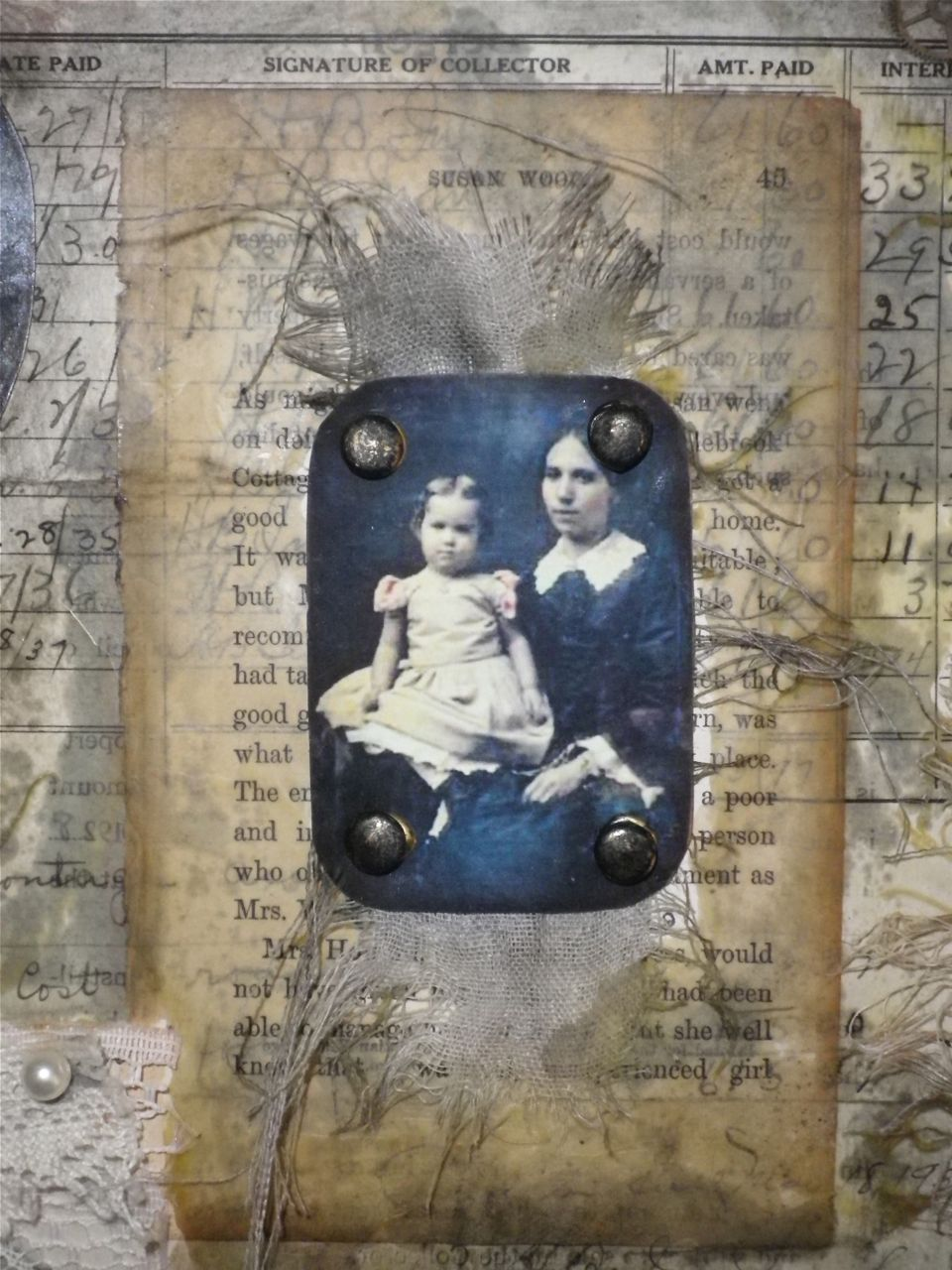Jo Archer- detail from 'The Memory House'.
