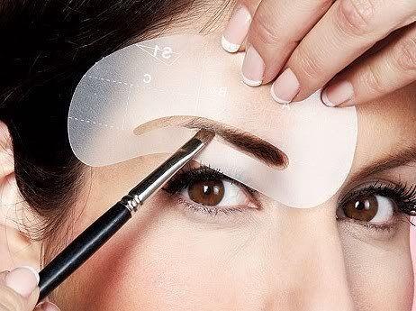 4 Eyebrow EYE Brow Shaping Stencils Reusable Durable Shadow Grooming Kit Makeup Template AOSTEK(TM)