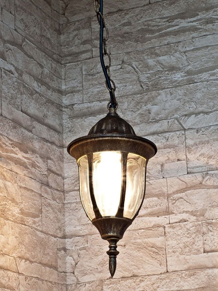 Antikfarbende Hängeleuchte für Aussen 8374 Deckenlampe