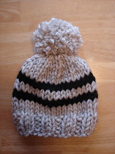 The Toddler Rugby Hat Is A Super Warm And Quickly Knit Hat For