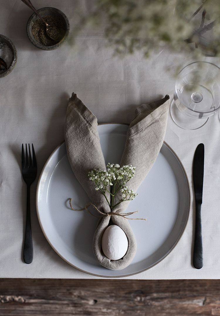 Photo of My Easter Table with Apple Blossom and Bunny Ears!#easter#decoration