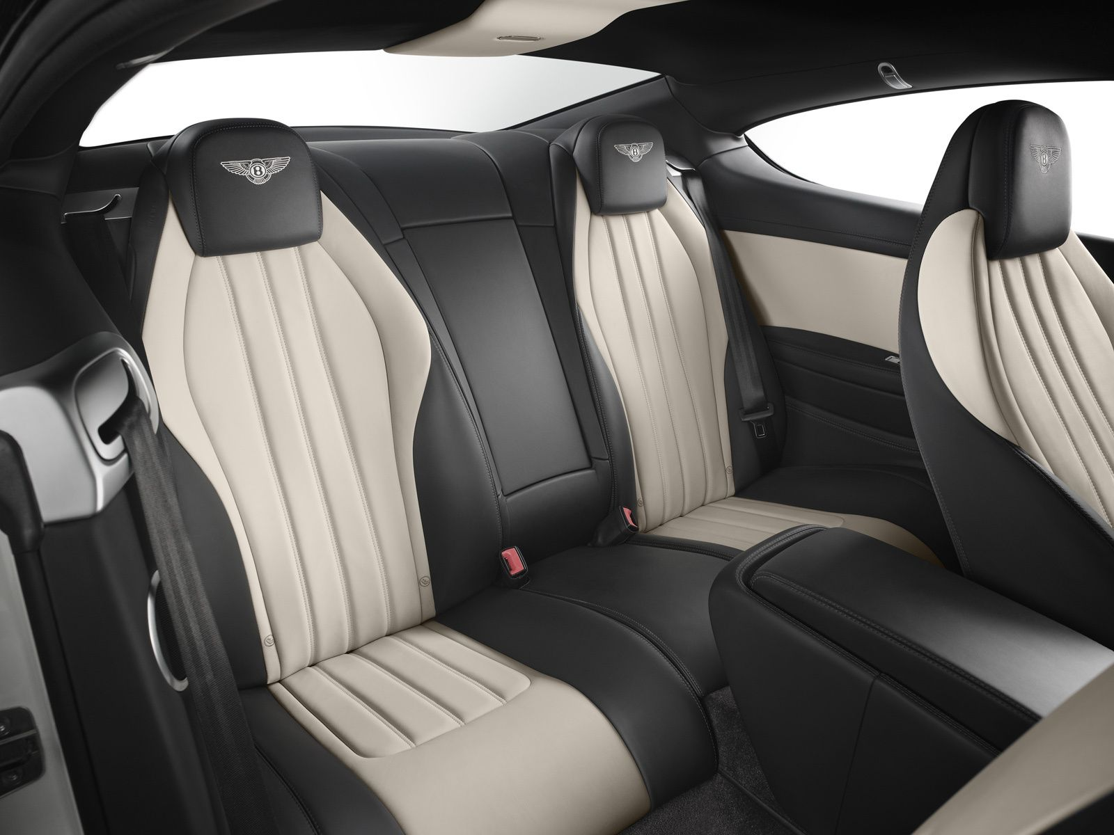 Bentley continental v8 leather rear seat modern interior black bentley continental v8 leather rear seat modern interior black cream bege stripe stitches coupe car vanachro Image collections