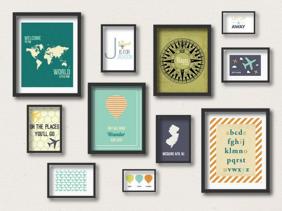 Nursery Prints : Travel Gallery Wall   Travel Art Prints   Around The World    Not