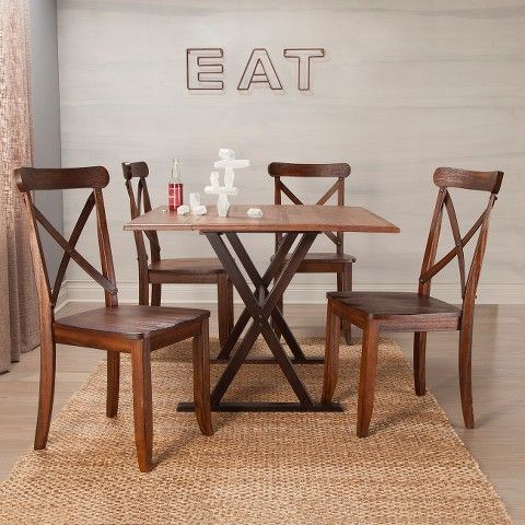 drop leaf rustic 40 dining table brown laila damian dining rh pinterest co uk