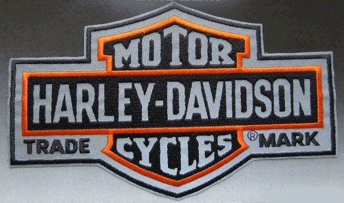 HARLEY-DAVIDSON Motor Cycles reflective NEW Embroidered large Patch sewable