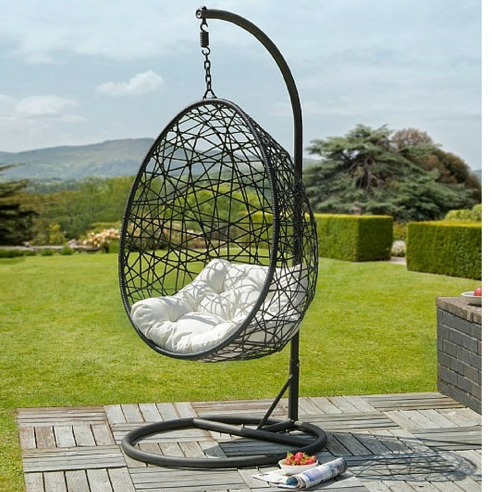 hanging rattan swing chair balcony egg swings seat rocking chairs garden lounger