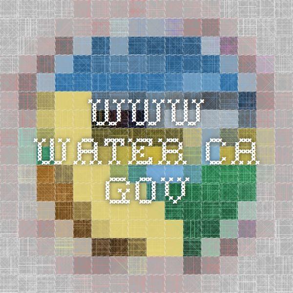 www.water.ca.gov
