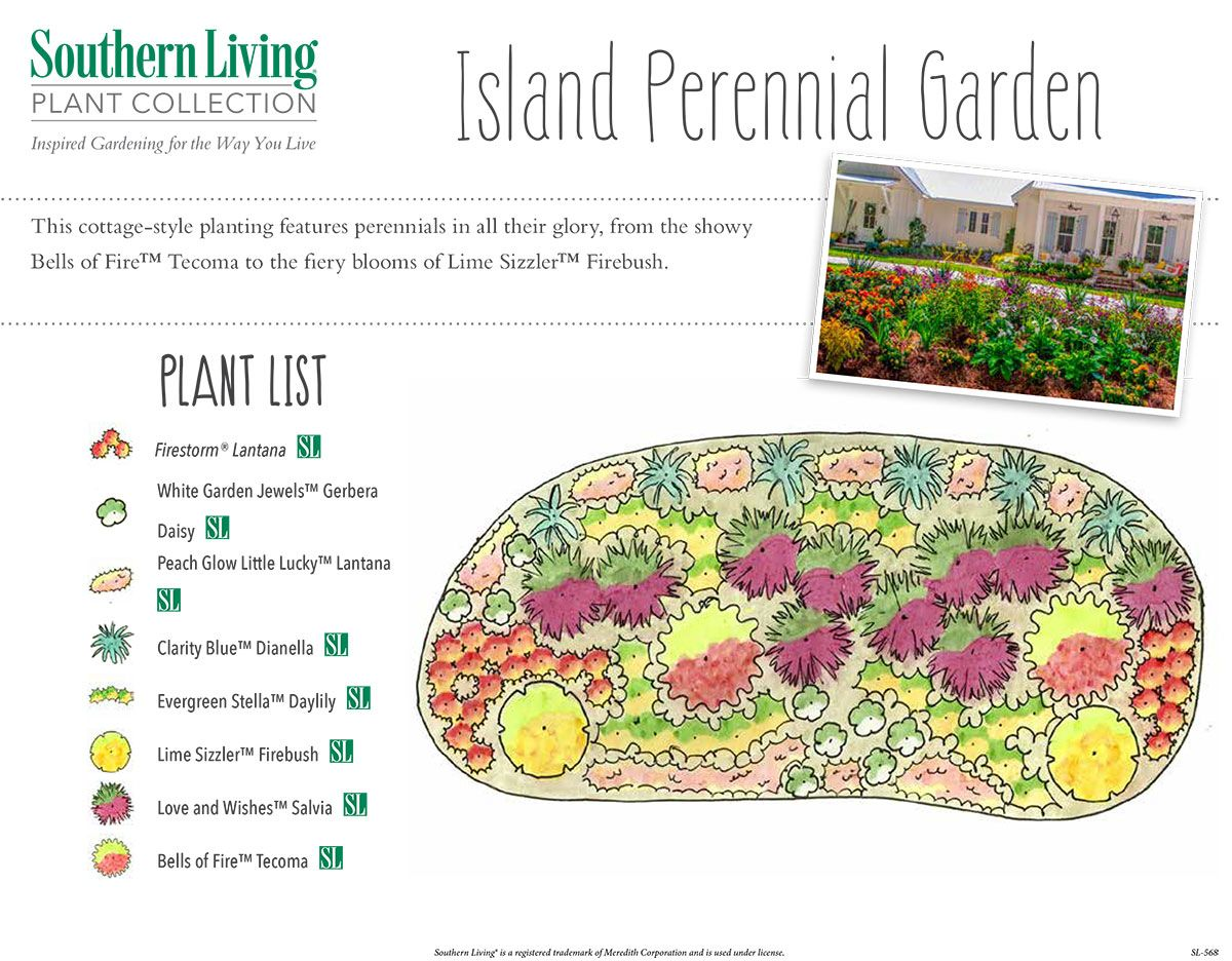 A Cottage Esque Perennial Planting Perennials Southern Living Plants Cottage Garden Plants