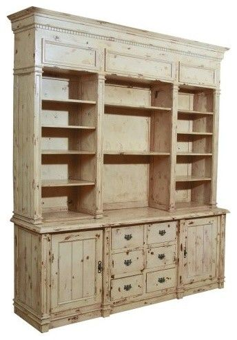 solid mahogany apothecary bookcase cabinet weathered white traditional bookcases cabinets and computer armoires