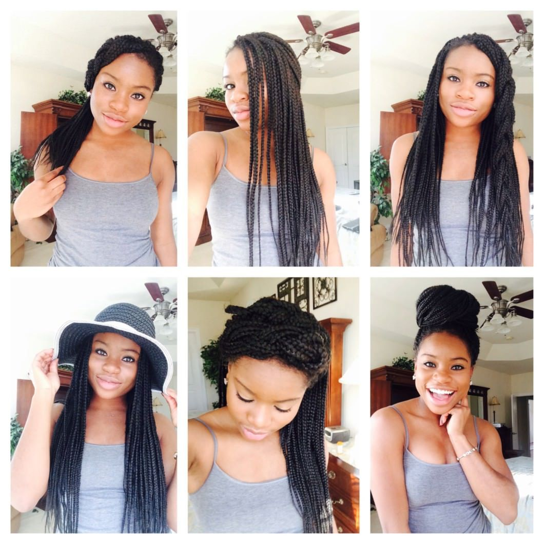 15 Quick And Easy Box Braids Hairstyles Video Box Braids Hairstyles Box Braids Styling Braided Hairstyles Easy
