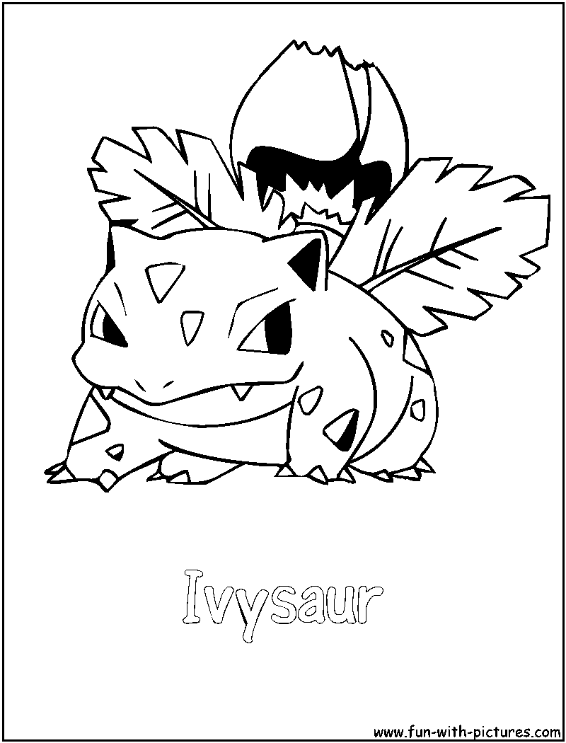 Pokemon Coloring Pages Ivysaur - Free Printable Coloring Pages