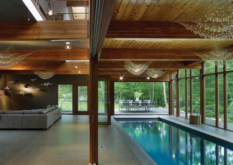 Indoor Pool Bauen indoor pool im wohnzimmer eines ferienhauses birkenwasser