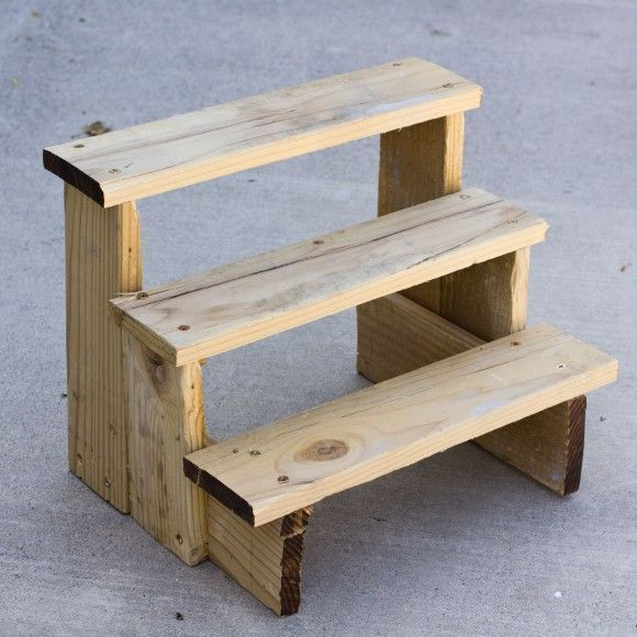 Photo of DIY plant stands outdoors
