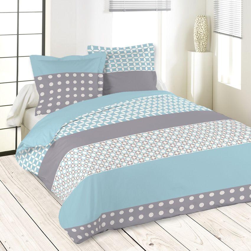elegant percale de coton traitement easycare pour un repassage facile motifs large bande. Black Bedroom Furniture Sets. Home Design Ideas
