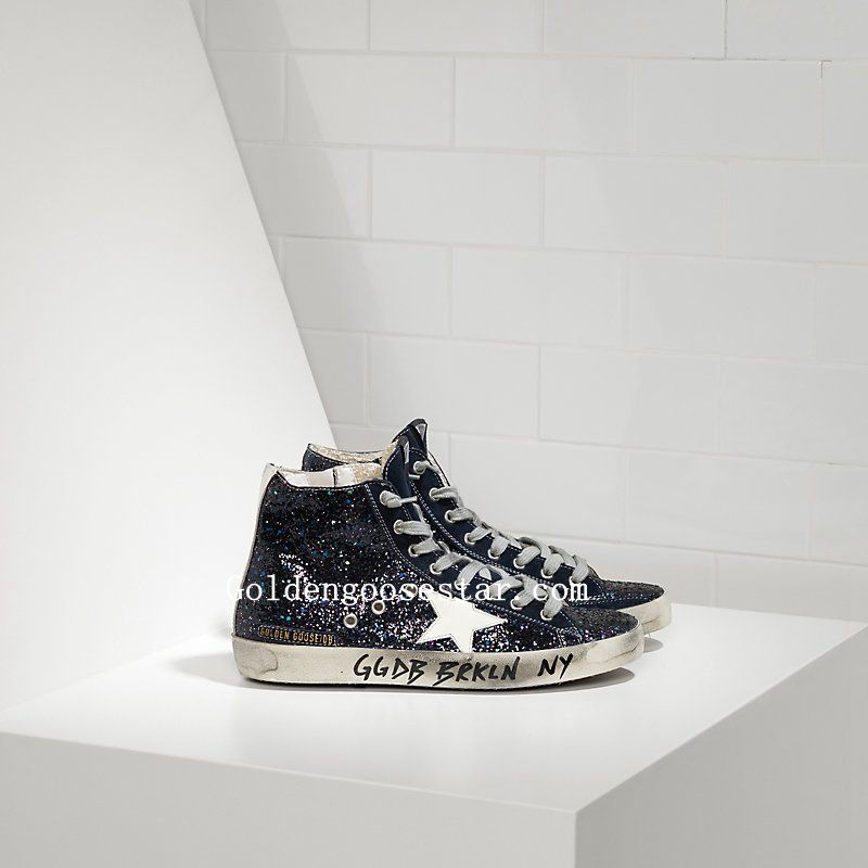 518b42b04f Golden Goose Francy Sneakers Fabric Embroidered With Glitter and ...