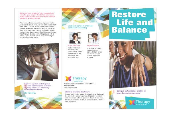 counseling tri fold brochure examples - Google Search | Marketing ...