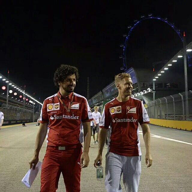 Seb on pole in Singapore