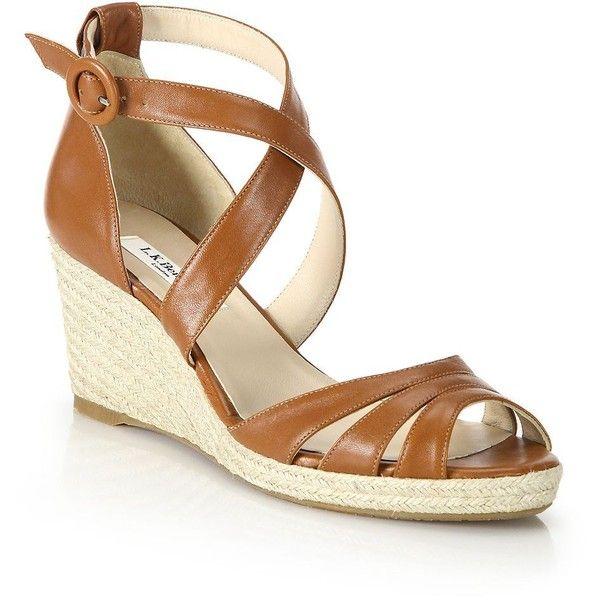 c0dada683d1a L.K. Bennett Priya Leather Espadrille Wedge Sandals (342705 IQD ...