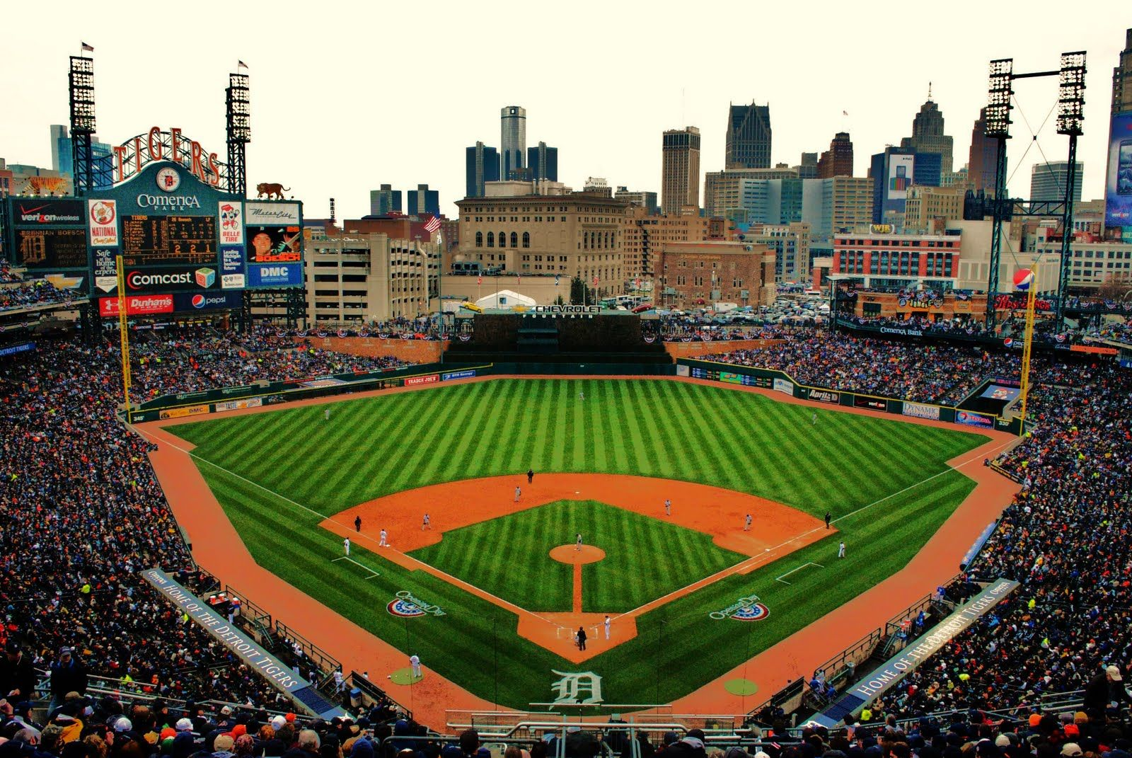 Comerica Park Home Of The Detroit Tigers Michigan Fun Detroit Tigers Michigan