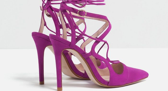 fa87c19962b ZARA Purple Laceup heels | chic | Shoes, Fashion, Zara shoes