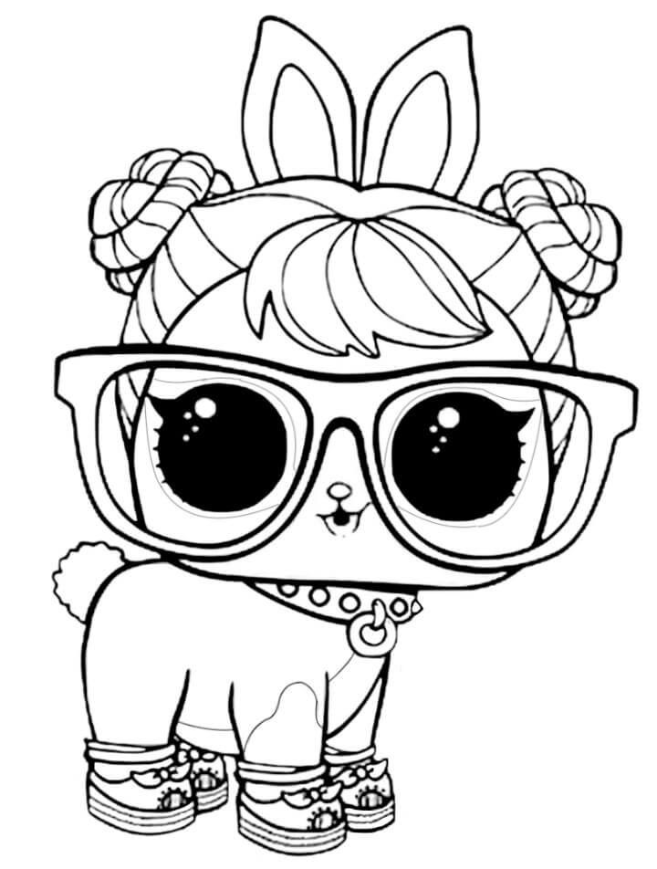 Lol Surprise Pets Coloring Pages Hop Hop Animal Coloring Pages Unicorn Coloring Pages Dog Coloring Page