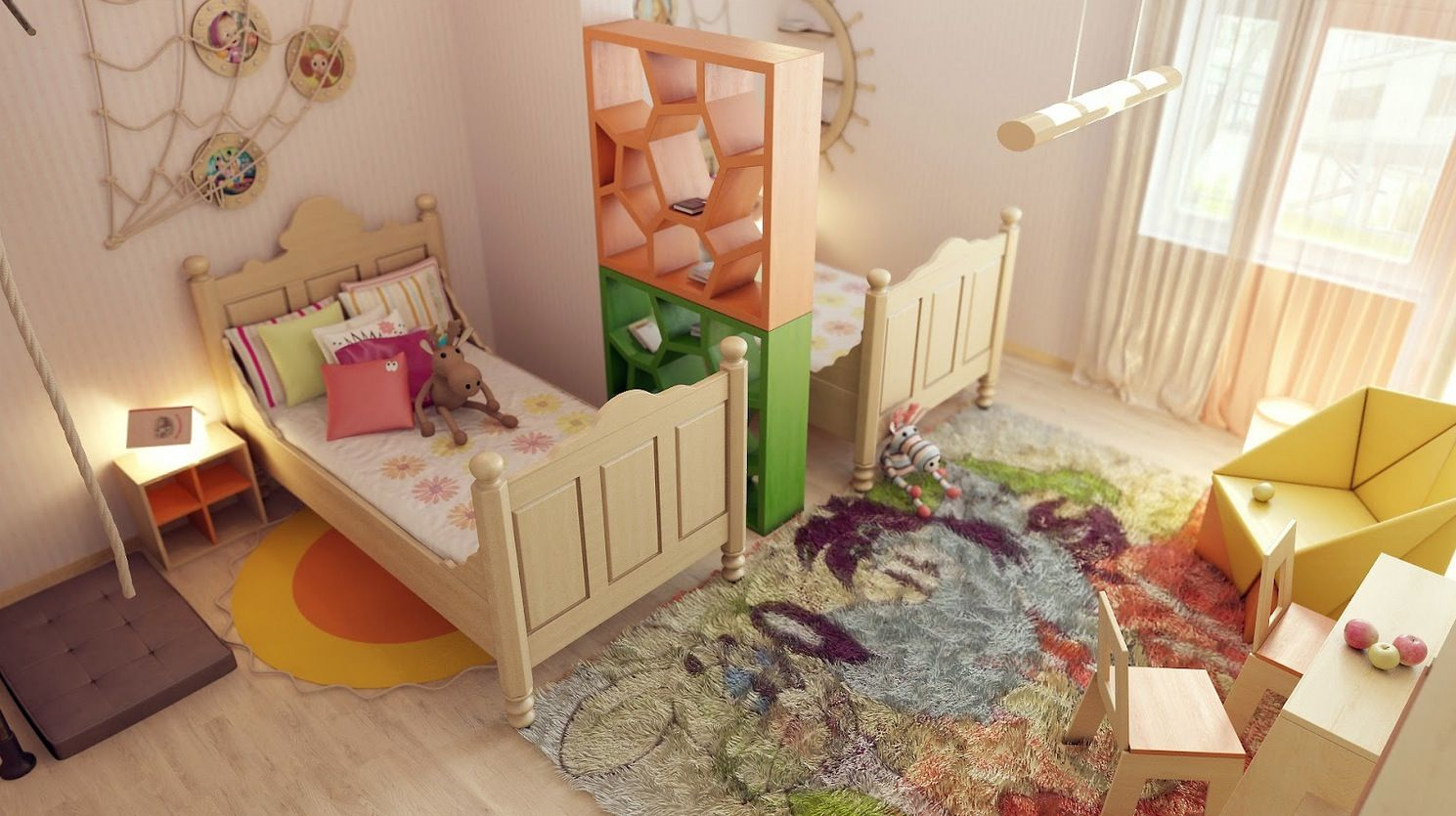 Precious Interior Detailing Kids Shared Bedroom Kids Room