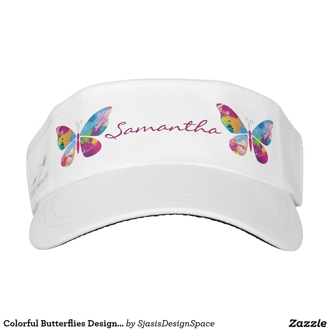 aab460c969f Colorful Butterflies Design Sun Visor Hat Headsweats Visors
