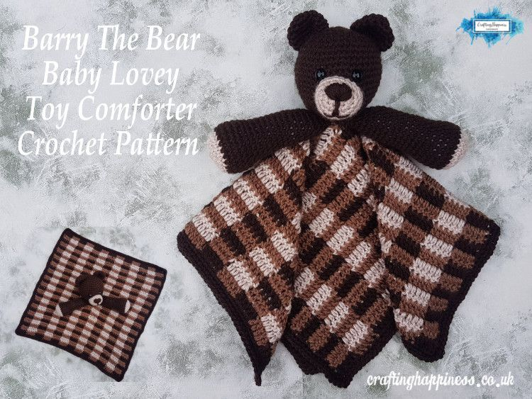 74050b6b73c6c Barry The Bear Baby Lovey Security Blanket Toy Comforter Crochet ...
