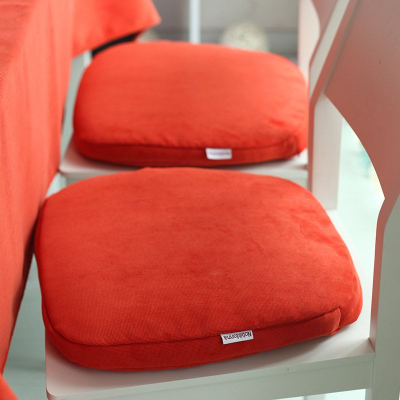 Awesome New Fashion Orange Office Seat Pad Square Kitchen Chiar Washable Window  Cushion Seat Cushions Chair #