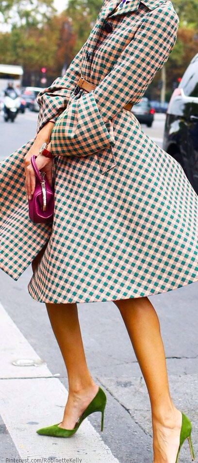 Full swing dress   colorful shoes   Parisian style