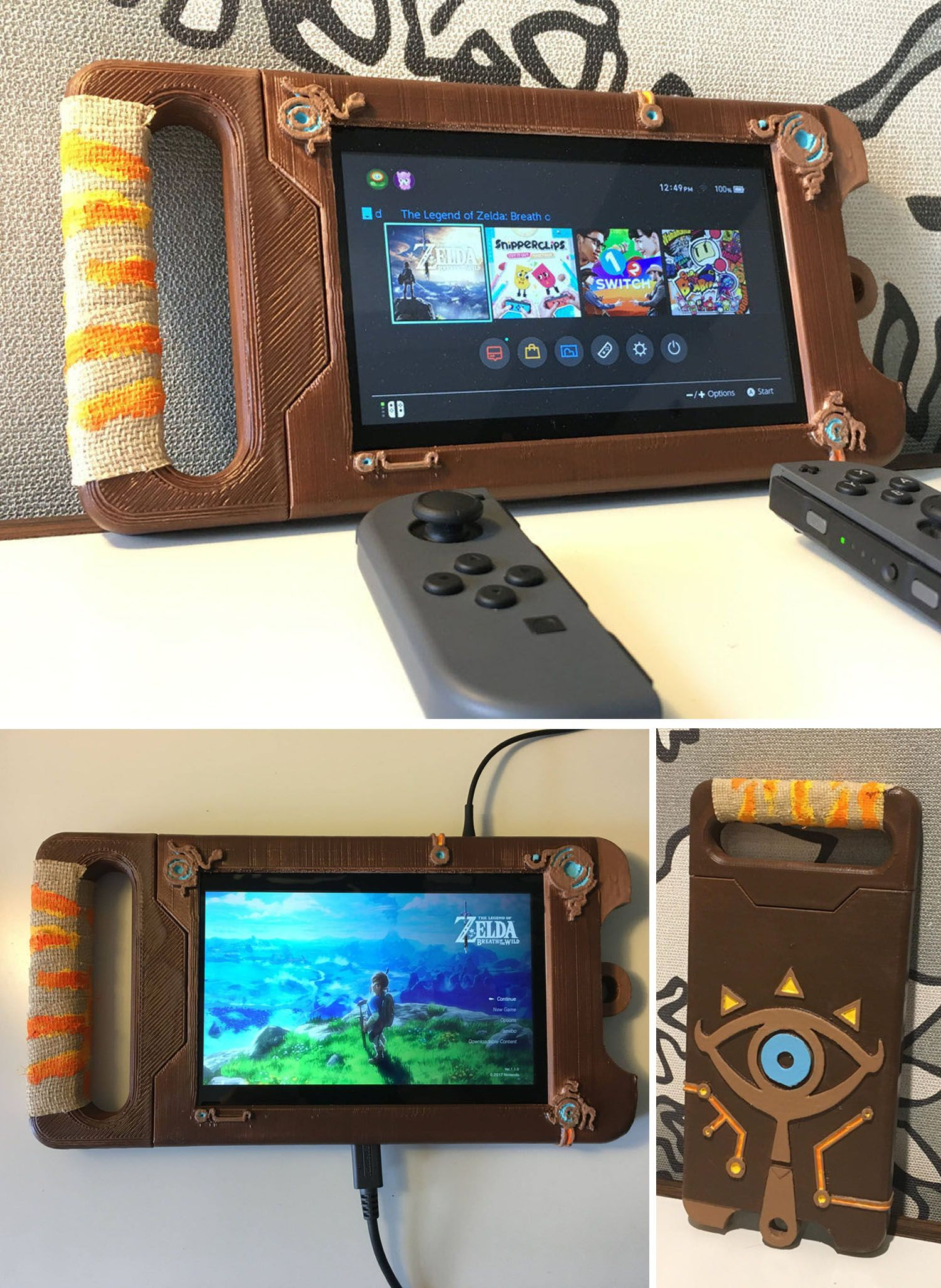 Nintendo switch sheikah slate case loz pinterest for Housse zelda pour switch
