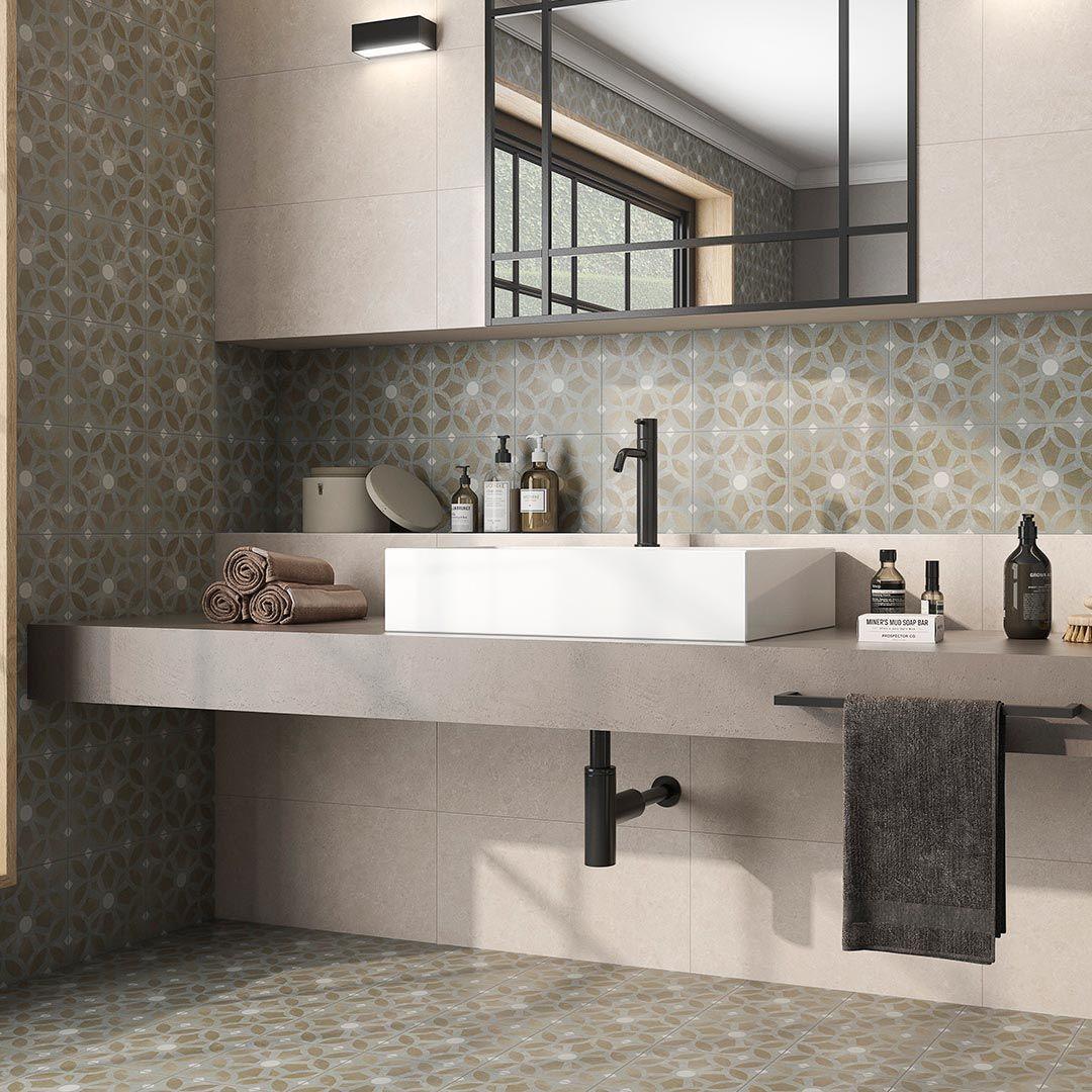 Rénovation Salle De Bain Morlaix 22.3x23.3cm cezzane pattern tile part of the art range
