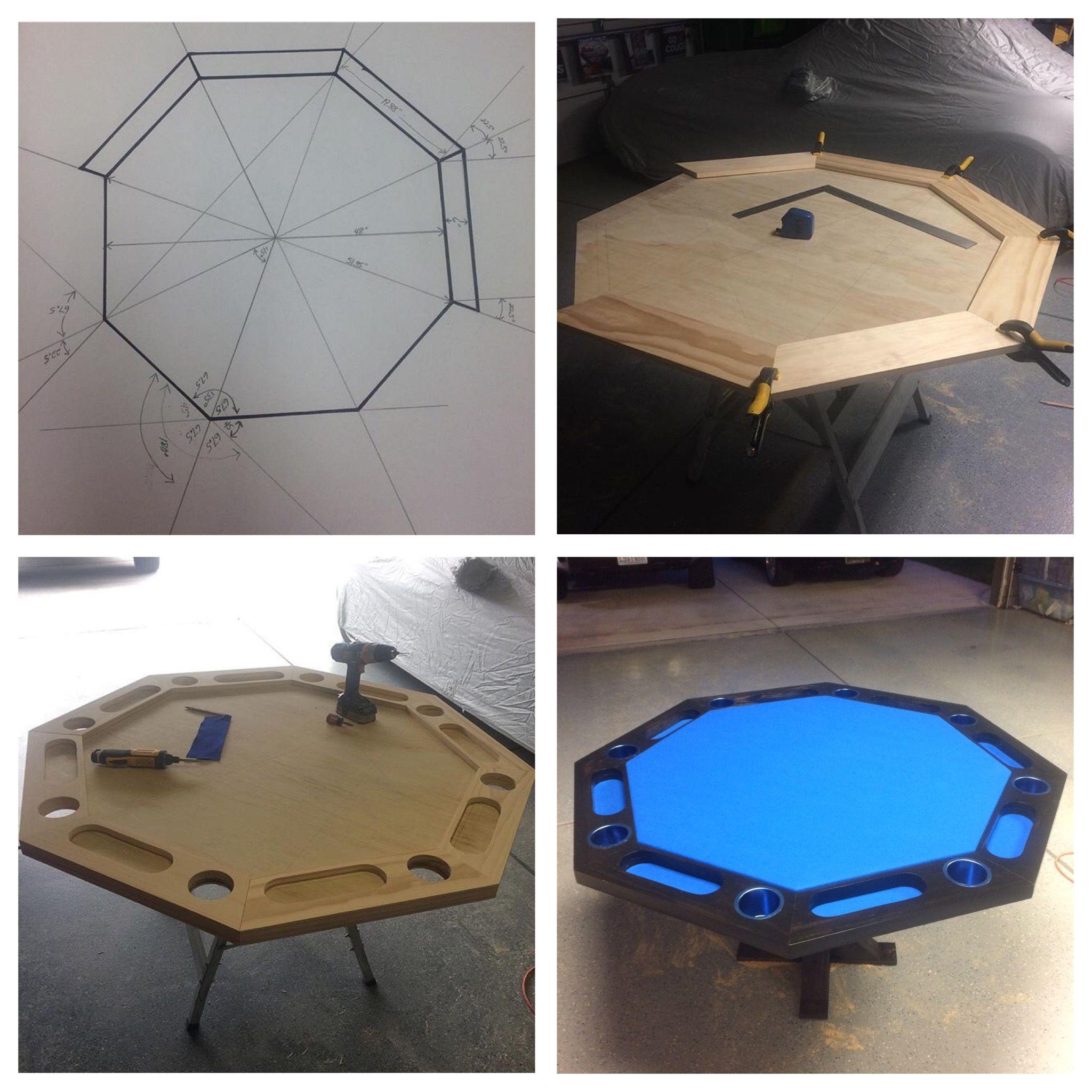Pin By Nick Ippolito On House Stuff Poker Table Diy Poker Table Plans Octagon Poker Table