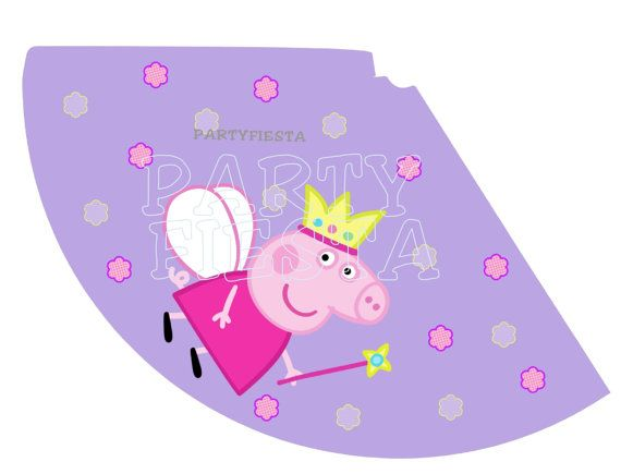 Inspired Peppa Pig Princess Fairies Hat Printable - DIY - Party - Party Hat Template