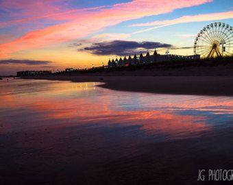 Ferris Wheel Sunset Beach Ocean City New By Jgoodphotography