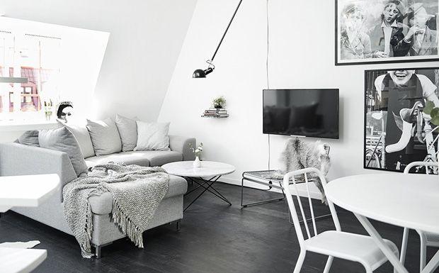 Une petit loft en noir et blanc Architecture design, Decoration